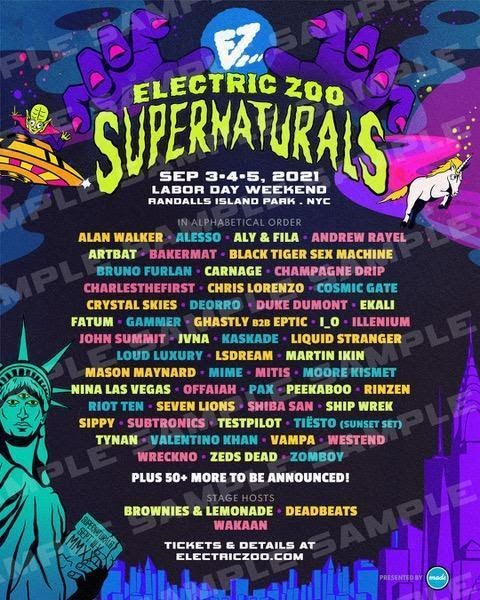 ELECTRIC ZOO: SUPERNATURALS reveals first phase lineup for 2021 edition! |  Ibiza by night